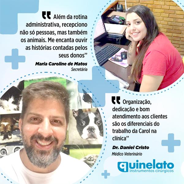 Dr. Daniel Cristo e Secretária Maria Caroline de Matos bx